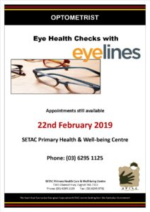 SETAC Optometrist Flyer