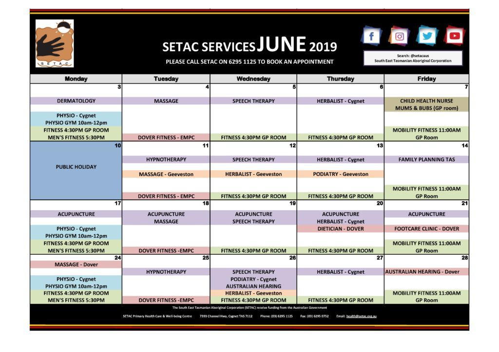 Calendar 201906 - Flyer Version June 2019 p2 Services