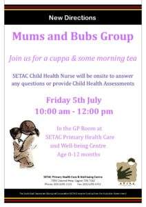 20190705 Mums Bubs flyer - July 2019