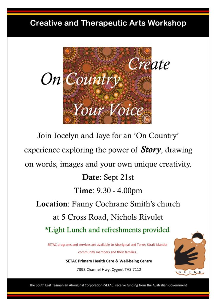 20190921 On Country Create Art workshop