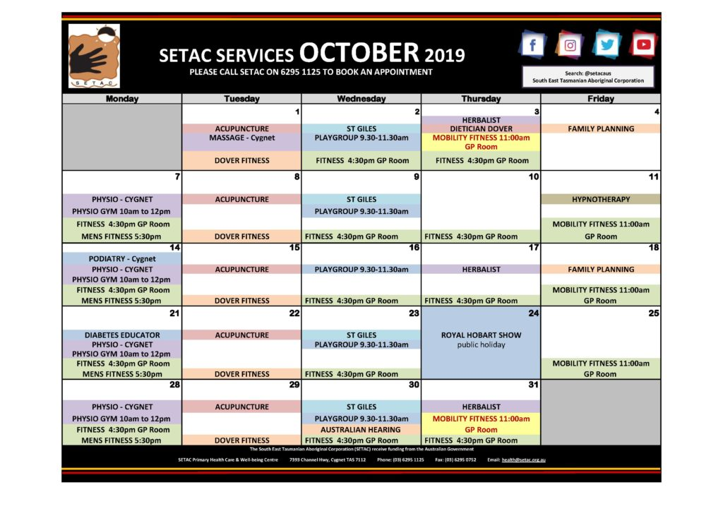 Download 2019 10 October Events Calendar p1 Services