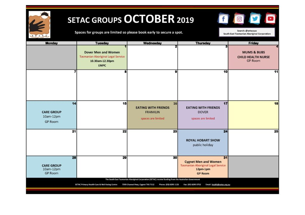 Download 2019 10 October Events Calendar p2 Groups