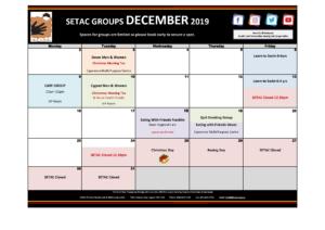 December Events Calendar p2 Groups