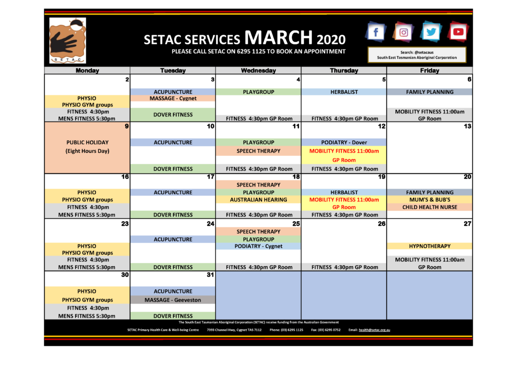 Download 2020 03 March Events Calendar p1 Services